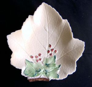 Carlton Ware Red Currant Leaf Design Dish - 1930s